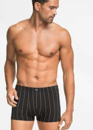 Boxershort (set van 3), bpc bonprix collection, zwart/wit gestreept