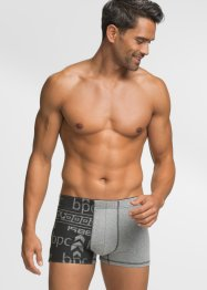 Boxershort (set van 3), bpc bonprix collection, grijs gemêleerd met print