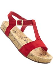Sandalen, bpc bonprix collection, rood