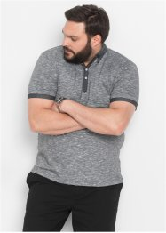 Poloshirt, bpc bonprix collection, zwart/wit gemêleerd