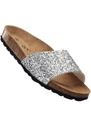 Slippers, bpc bonprix collection, zilverkleur