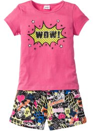 Pyjama (2-dlg. set), bpc bonprix collection, pink/zwart