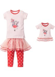 Pyjama+poppennachthemd (4-dlg. set), bpc bonprix collection