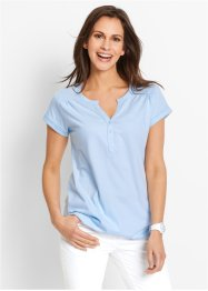 Shirt, bpc bonprix collection, poederblauw