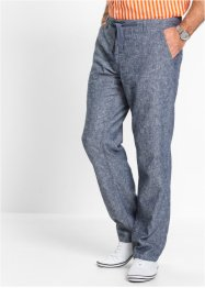 Broek regular fit, bpc selection, donkerblauw/wit gemêleerd