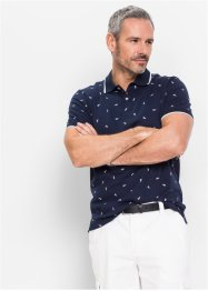 Poloshirt, bpc selection, rood gedessineerd