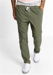 Broek regular fit tapered, RAINBOW, olijfgroen