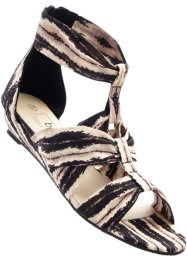 Sandalen, bpc bonprix collection, zwart/wit