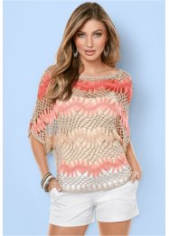 Shirt, BODYFLIRT boutique, pink/beige