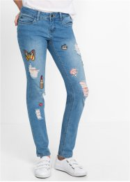 Jeans slim fit, RAINBOW, blue bleached