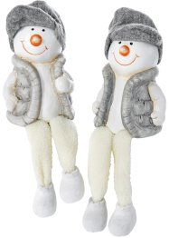 Decoratiefiguur «Sneeuwman» (2-dlg. set), bpc living