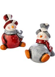 Decofiguren «Sneeuwpop» (2-dlg. set), bpc living
