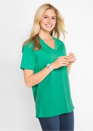 Longshirt met V-hals (set van 5), bpc bonprix collection