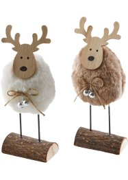 Decoratiefiguren «Eland» (set van 2), bpc living