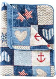 Plaid met maritiem design, bpc living bonprix collection