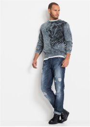 Sweater met wassing, slim fit, RAINBOW