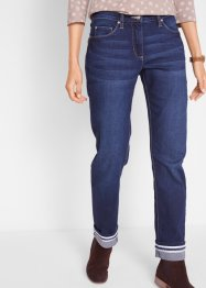 Stretch jeans met omslag, straight, bpc bonprix collection