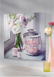 Led-schilderij «Kaarsen & Bloemen», bpc living bonprix collection