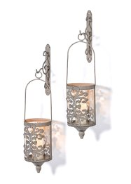 Kaarsenhouder met patina effect (2-dlg. set), bpc living bonprix collection
