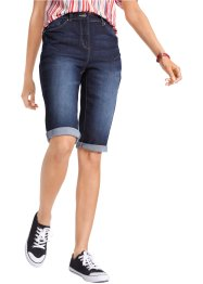 Jeans bermuda met comfortband, bpc bonprix collection