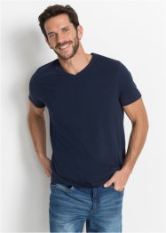 T-shirt met V-hals (set van 3), bpc bonprix collection