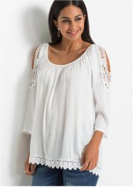 Cold shoulder blouse met kant, BODYFLIRT