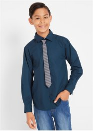 Overhemd en stropdas, slim fit (2-dlg. set), bpc bonprix collection