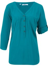 Lange blouse van viscose met oprolbare 3/4 mouwen, bpc bonprix collection