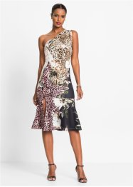 One shoulder jurk met luipaardprint, BODYFLIRT boutique