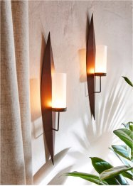Wandkaarsenhouder (set van 2), bpc living bonprix collection