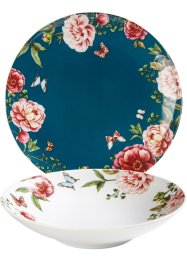 Tafelservies «Roses» (12-dlg.), bpc living bonprix collection
