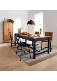 Stoel met imitatieleren hoes (set van 2), bpc living bonprix collection