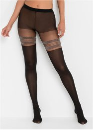 Overknee panty met glitterstrepen, bpc bonprix collection