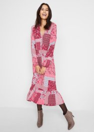 Midi jurk met patchworkprint van Maite Kelly, bpc bonprix collection