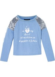 Longsleeve met pailletten, bpc bonprix collection