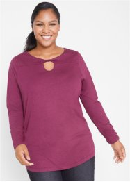 Longsleeve van viscose met drapering, bpc bonprix collection