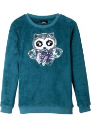 Teddy fleece trui met pailletten, bpc bonprix collection