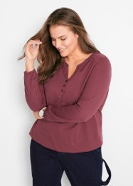 Henley shirt van katoen, bpc bonprix collection