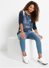 Shirt met denim print, RAINBOW