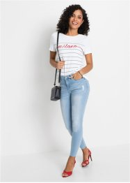 Gestreept shirt met applicatie, BODYFLIRT