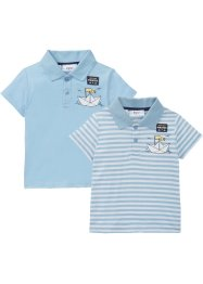 Poloshirt (set van 2), biologisch katoen, bpc bonprix collection