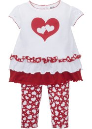 Baby T-shirt en legging van biologisch katoen (2-dlg. set), bpc bonprix collection