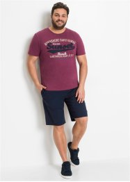 T-shirt met print en applicatie, bpc bonprix collection