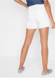 Jeans short met broderie anglaise, John Baner JEANSWEAR