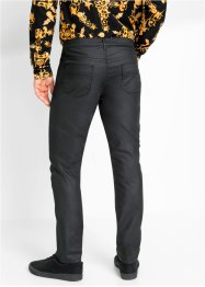 Slim fit stretch broek met coating, straight, RAINBOW