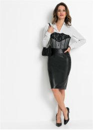 Blouse, bustierlook, BODYFLIRT boutique
