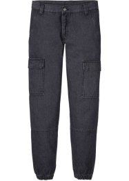 Regular fit cargo jeans van biologisch katoen, straight, RAINBOW
