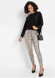 Stretch broek met animalprint, BODYFLIRT