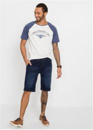 Slim fit stretch jeans bermuda, straight, John Baner JEANSWEAR