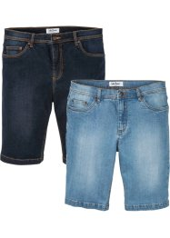 Regular fit stretch jeans bermuda (set van 2), John Baner JEANSWEAR